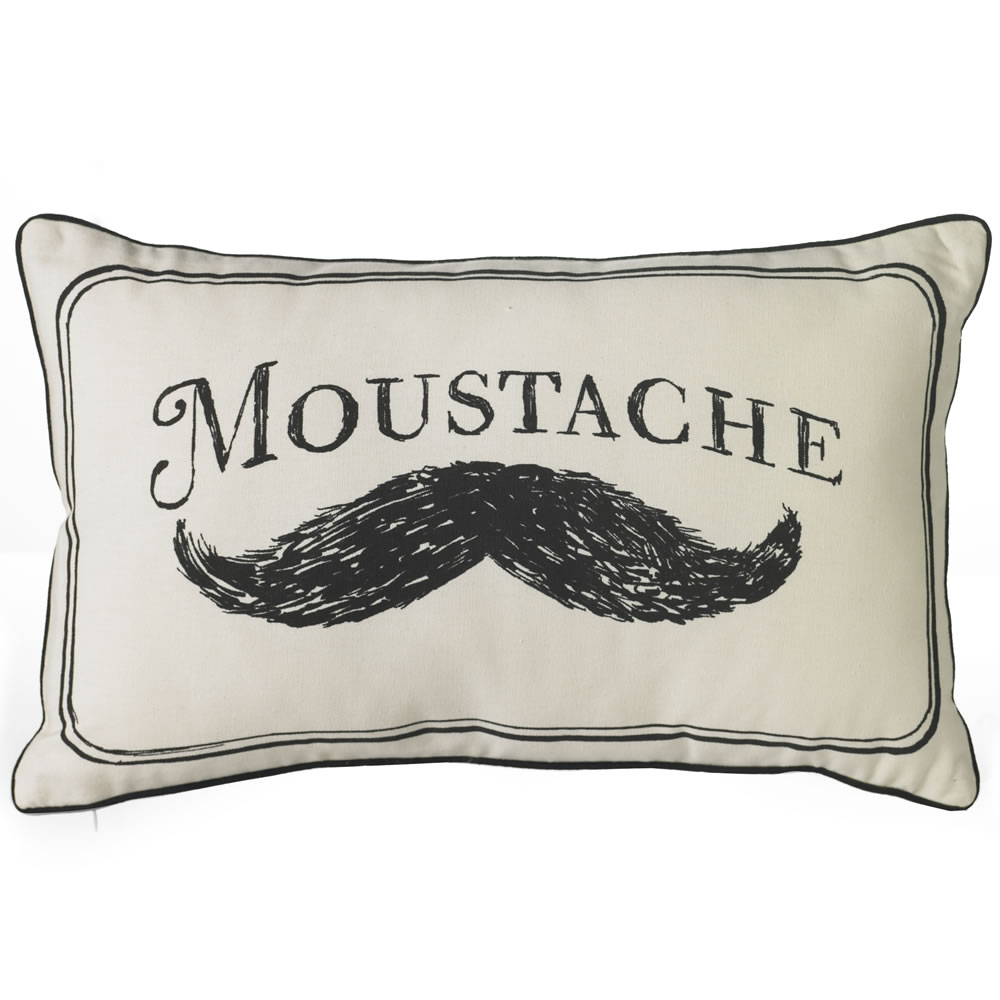 Moustache Cushion, £5.20, Wilkinson