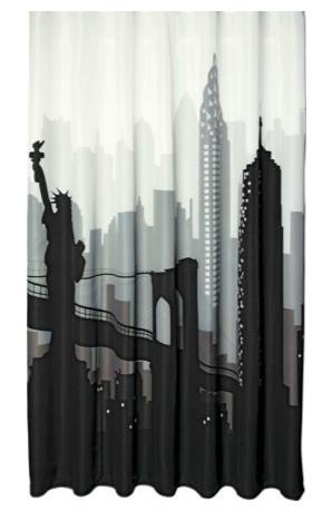Cityscape Shower Curtain, £9.99, Argos
