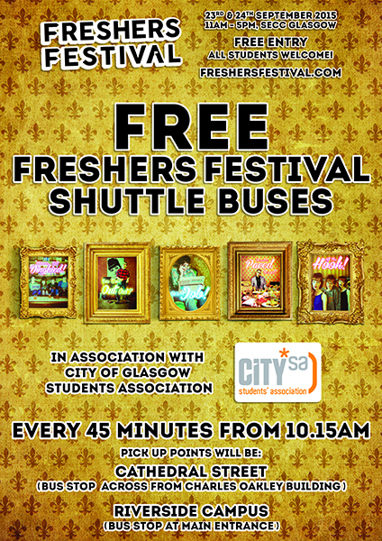 CogSA freshers fest bus time table