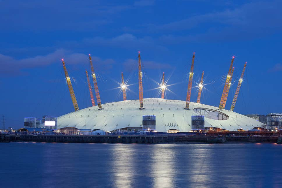 free tourist attraction in London. The O2.